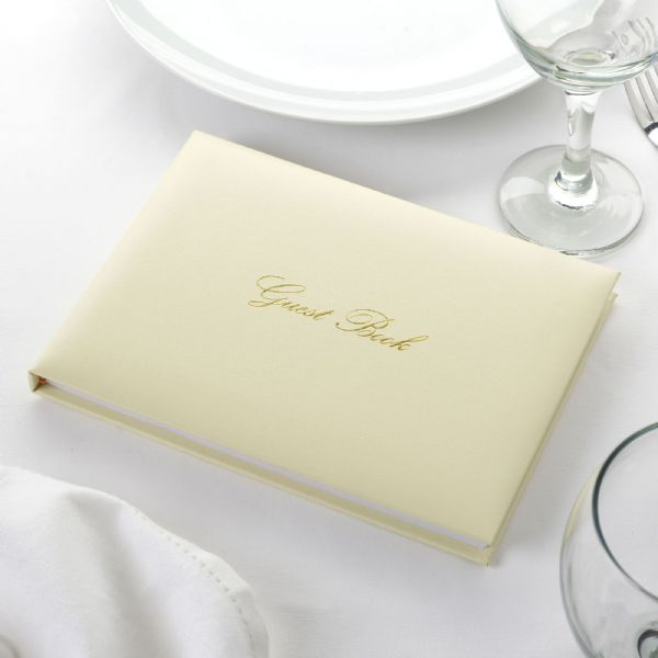 Ivory & Gold Wedding Guest Book